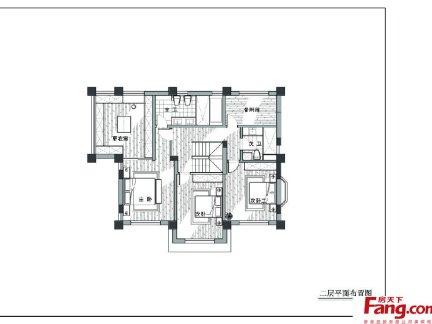 复式楼二层平面设计图图片