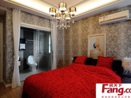 卧室装修中式壁纸贴图图片