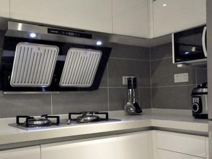 厨房白色烤漆橱柜图片