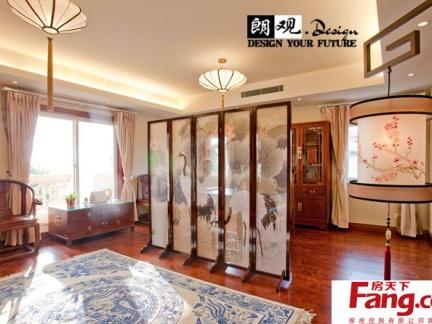 中式风格室内隔断屏风效果图图片