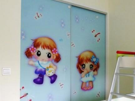 儿童房衣柜移门效果图