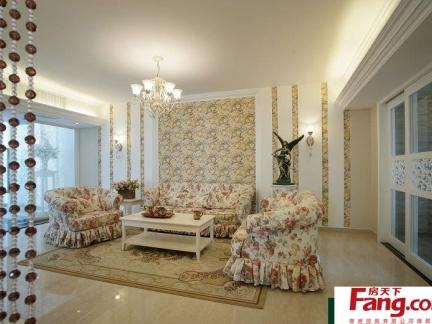 小两室一厅欧式风格装修效果图图片
