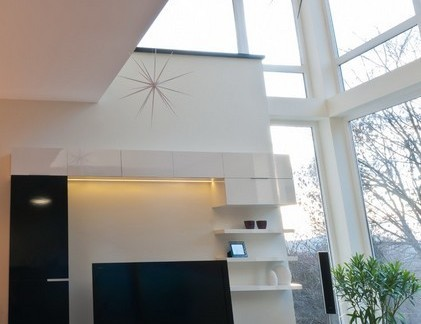2013年复式楼客厅电视背景墙装修效果图
