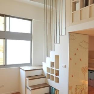 小户型挑高复式楼梯效果图