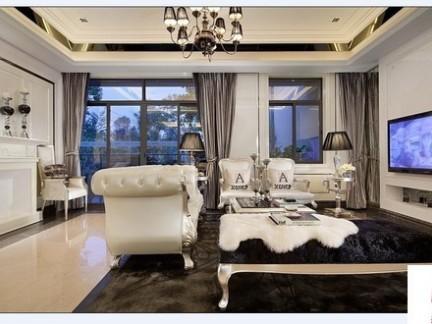 欧式风格客厅液晶电视机背景墙效果图
