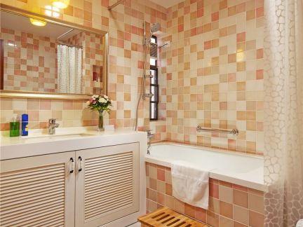 现代卫生间浴室浴帘装修图片