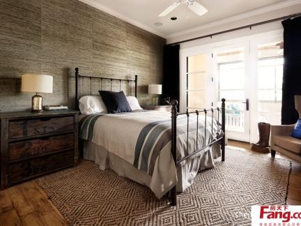 美式别墅主卧室装修效果图大全2013图片设计