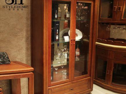 实木中式酒柜图片