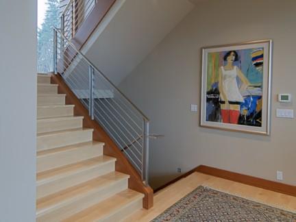 楼梯间木踢脚线效果图