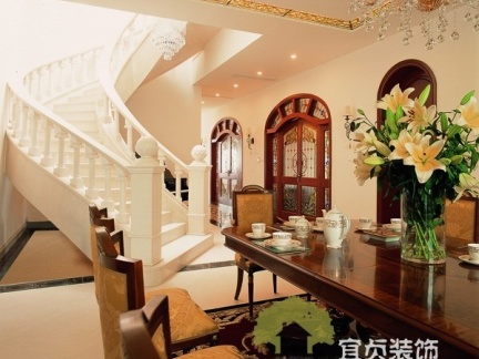美式创意楼梯装修效果图图片