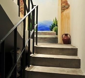东南亚风格过道楼梯效果图