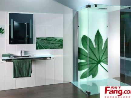 卫生间艺术玻璃隔断效果图