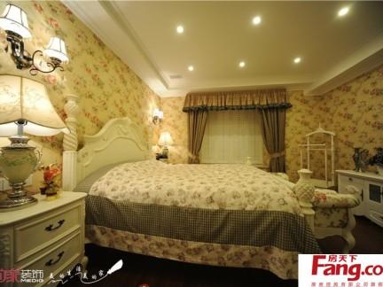 欧式田园风格卧室壁纸装修效果图欣赏