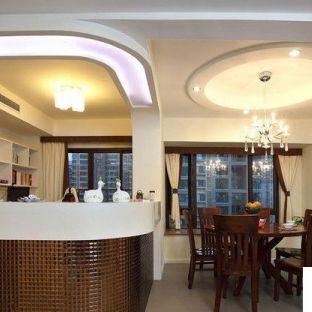 家庭餐厅圆形吊顶效果图图片