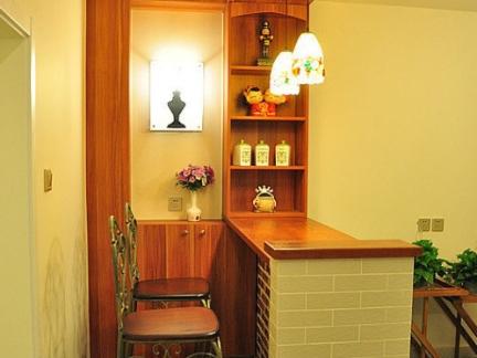 美式家装吧台效果图