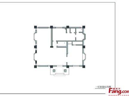 复式楼一楼室内设计平面图