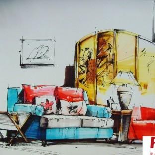 现代风格手绘家具图片