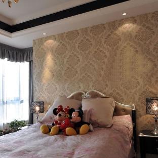 欧式卧室壁纸贴图-搜房网装修效果图图片
