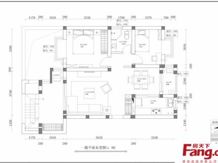 二层别墅室内设计平面图