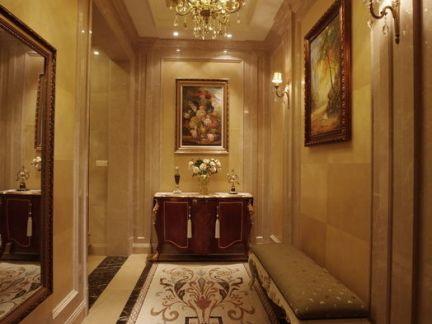 欧式走廊座椅玄关装饰效果图图片
