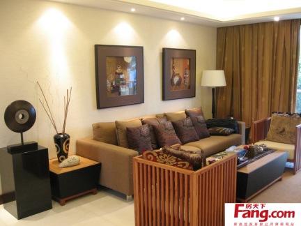 客厅沙发挂画背景墙效果图