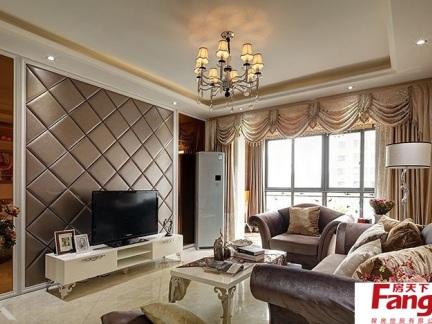 客厅软包电视背景墙装修效果图大全2013图片