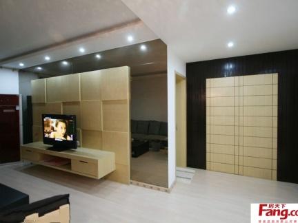 客厅隐形门装修效果图 电视背景墙效果图