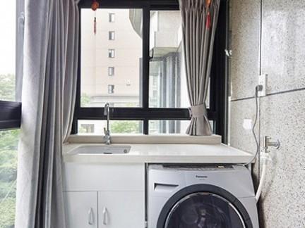 家庭阳台洗衣房效果图大全图片