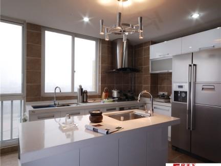 2018新房厨房岛台图片 房天下装修效果图