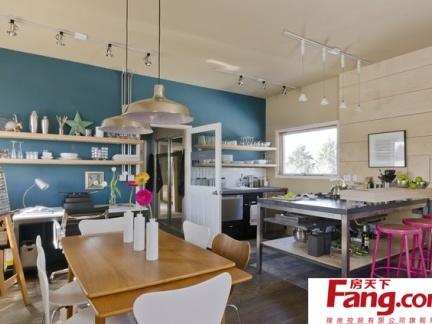 欧式小户型厨房餐厅一体装修效果图