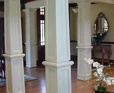 欧式家装柱子图片-2018欧式柱子装修效果图 房天下装修效果图