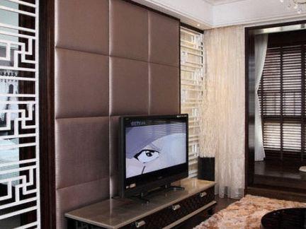 2017电视墙软包装修效果图大全 房天下装修效果图