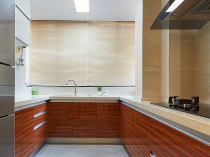 厨房烤漆厨房橱柜效果图