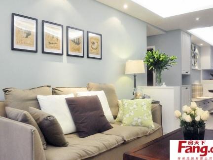 客厅沙发背景墙挂画装饰效果图欣赏