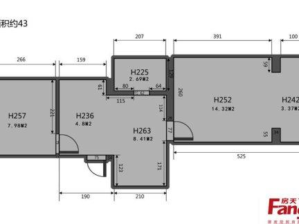 40平米小户型平面图