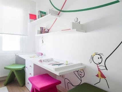 简约书房手绘墙装饰设计图片效果图图片