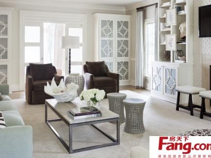 简欧式风格客厅装修效果图片