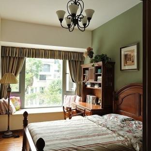 美式乡村风格卧室装修图片
