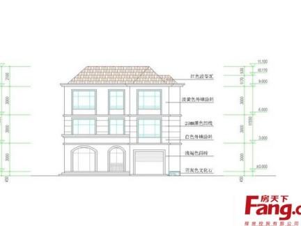 农村三层房屋设计立面图