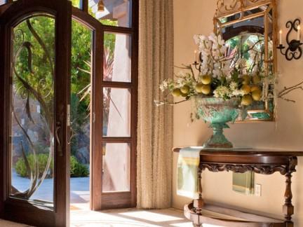 进门玄关欧式玻璃门效果图