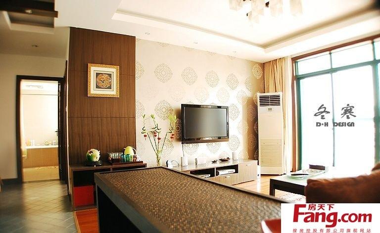 港式风格客厅电视背景墙壁纸效果图图片图片