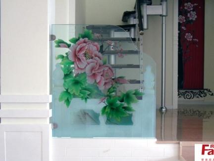 小艺术玻璃隔断效果图