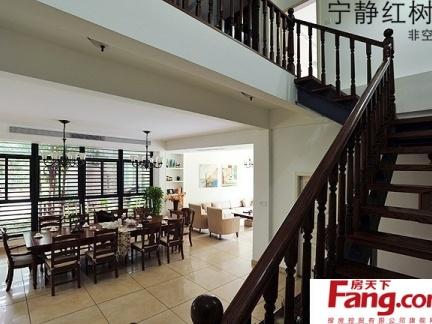 东南亚风格过道楼梯设计图片