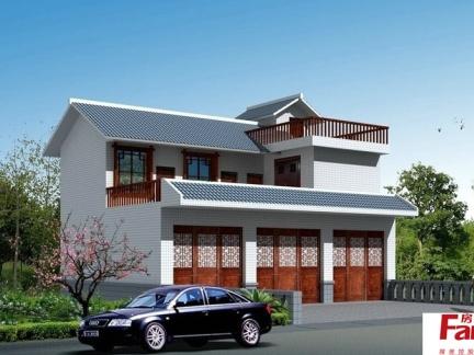 农村两层楼装修外面图农村楼房装修图片1