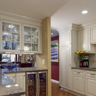 厨房酒柜隔断效果图图片