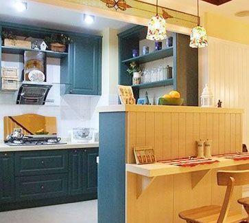 北欧风格开放式厨房隔断效果图-搜房网装修效果图图片