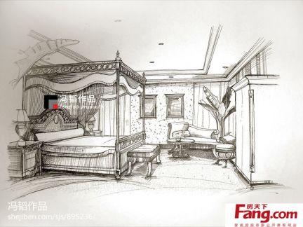 起居室室内设计手绘效果图大全