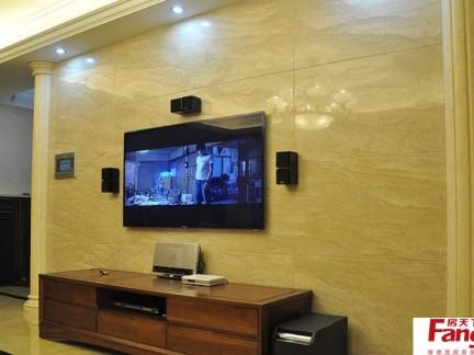室内瓷砖电视背景墙装修效果图片