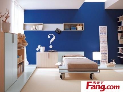 蓝色清新的男孩儿童房装修效果图