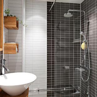 家装小卫生间瓷砖阳角线效果图 高清图片